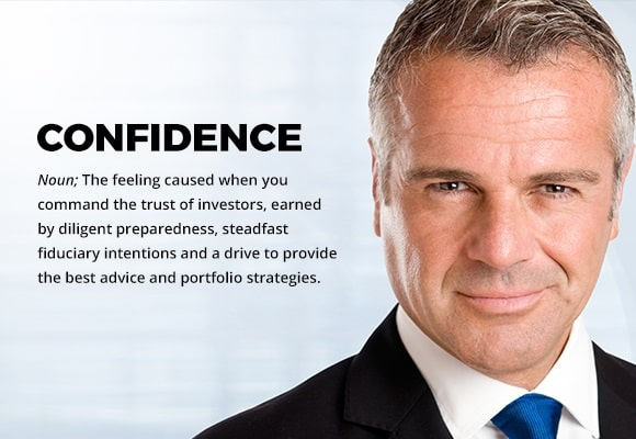 Successful businessman represents the confidence,when you command the trust of investors and a drive to provide the best advice and portfolio strategies.